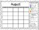 Ice Cream Clip Chart and Monthly Behavior Calendars