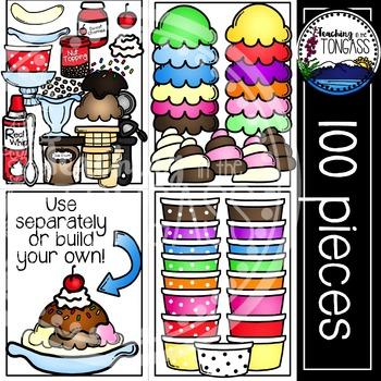 Ice Cream Clipart MEGA Bundle