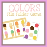 Matching Colors File Folder Game, Printable Worksheet, Activities