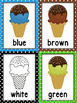 Ice Cream Color Posters