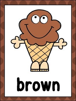 Ice Cream Color Posters & Cards
