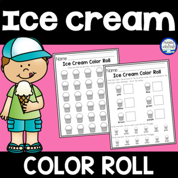 Ice Cream Color Roll Game {FREE} by Pocketful of Centers | TpT