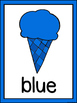 Ice Cream Color Word Posters