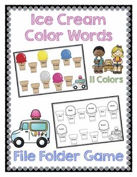 Ice Cream Color Words