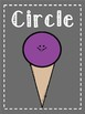 Ice Cream Color and Shape Posters