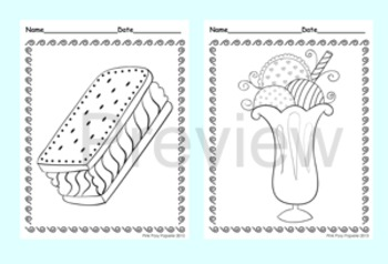 Ice Cream Coloring Pages - 8 Designs