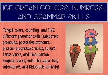 Ice Cream Colors, Numbers, and Grammar Skills