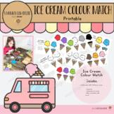 Ice Cream Colour Match Printable