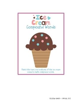 Ice Cream Compound Words Center