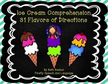 #apr17slpmusthave Ice Cream Comprehension - 31 Flavors of Directions