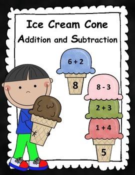 Ice Cream Cone Addition & Subtraction