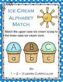 Ice Cream Cone Alpabet Match