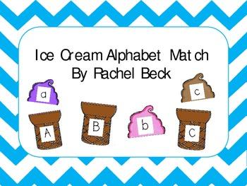 Ice Cream Cone Alphabet Match