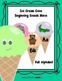 Ice Cream Cone Beginning Sounds Match