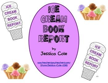Ice Cream Cone Book Report