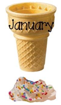 Ice Cream Cones Birthday and Class Names Set