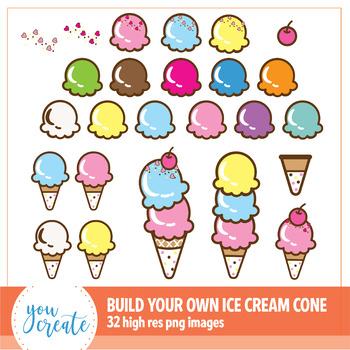 Ice cream cone high resolution. Clip art build your