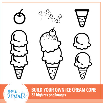 Ice Cream Cone Clip Art | Build Your Own Ice Cream Cone