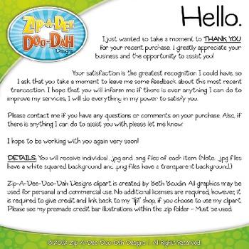 Ice Cream Cone Clipart {Zip-A-Dee-Doo-Dah Designs}