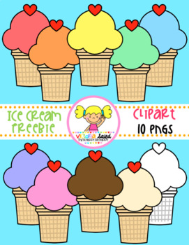 Ice Cream Cone Clipart Freebie