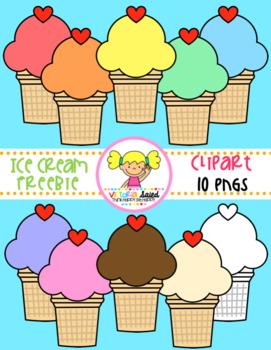 Ice Cream Cone Clipart Freebie