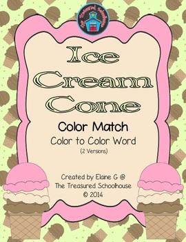 Ice Cream Cone Color Match