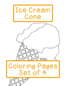 Ice Cream Cone Coloring Pages Soft Serve Scoops PDF Printa
