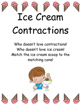 Ice Cream Cone Contractions