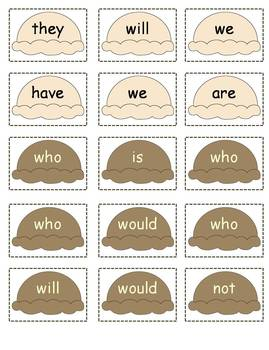 Ice Cream Cone Contractions: 3 Literacy Centers