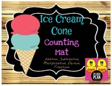 Ice Cream Cone Counting Mat