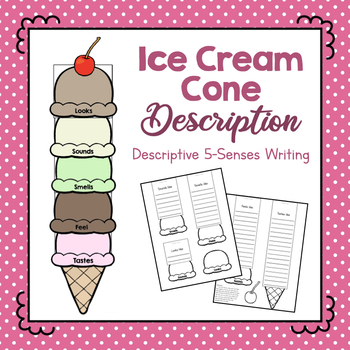 Ice Cream Cone Description- Descriptive 5-Senses Writing