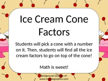 Ice Cream Cone Factors