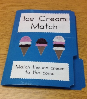 Ice Cream Cone Folder Game