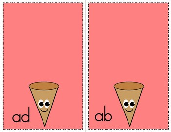 Ice Cream Cone Game - A Words Families - Literary Learning Center Kit