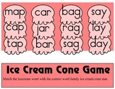 Ice Cream Cone Game - A Words Families - Literary Learning