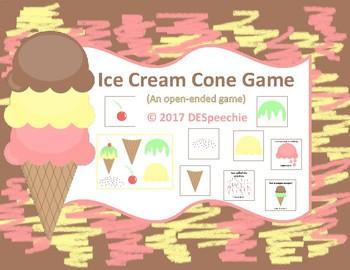 Ice Cream Cone Game - Freebie