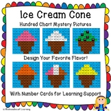 Ice Cream Cone Hundred Chart Mystery Picture: Design Your