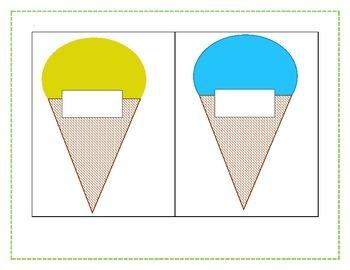 Ice Cream Cone Labels