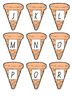 Ice Cream Cone Lower and Upper Case Alphabet Match - NSW Font