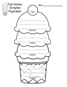 Ice Cream Cone Main Idea Details Map And Graphic Organizer By Andrea