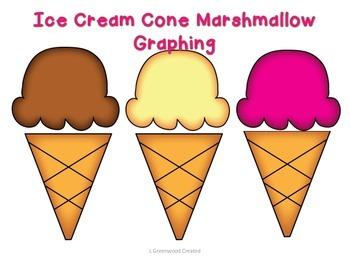 Ice Cream Cone Marshmallow Graphing