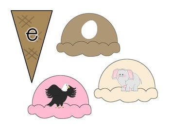 Ice Cream Cone Matching Initial Sounds Center