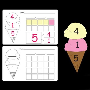 Ice Cream Cone Math Activities / Worksheets