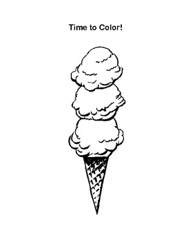 Ice Cream Cone Math -Count, Add, and Subtract Printable Worksheets