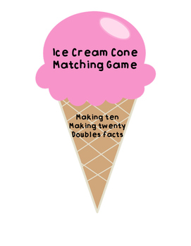 Summer Time Ice Cream Cone Math Fact Matching