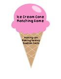 Ice Cream Cone Math Fact Matching