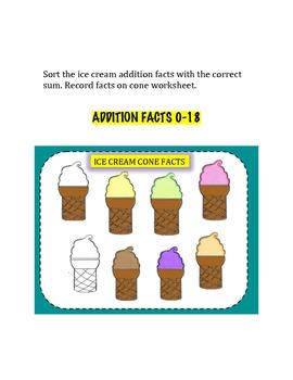 Ice Cream Cone Math Facts
