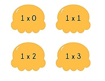 Ice Cream Cone Multiplication Match Game x 1