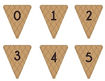 Ice Cream Cone Multiplication Match Game x 1