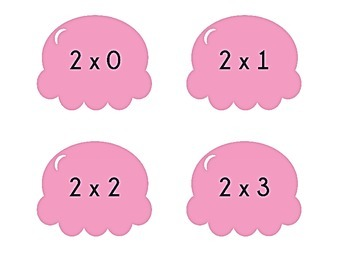 Ice Cream Cone Multiplication Match Game x2